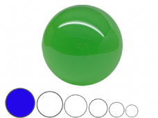 Jac Products Emerald Green Translucent 100mm Acrylic Contact Ball